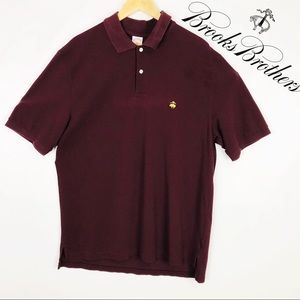 Mens Auburn Brooks Brothers Short Sleeve Polo